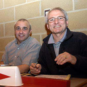 Outgoing EMBL Chairman Brian Pittman (on right) and Mr K. Bates were the table officials.